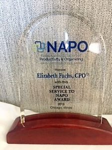 President's Service to NAPO Award in 2018